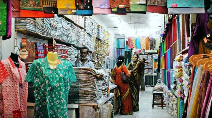 street shopping in Chennai