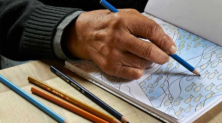 best colouring books for elderly people