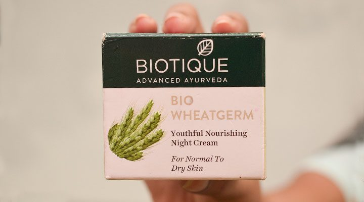 Biotique Wheatgerm Youthful Nourishing Night Cream Review