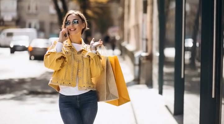 talk and walk while shopping